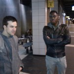 Waiting for the train at Porte de Clichy looking hard (actually thinking about combos)