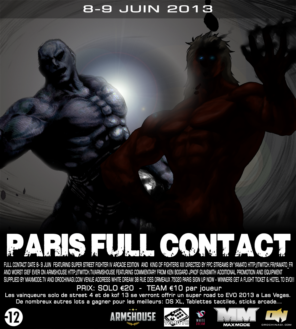Stream info 4 Road to EVO Paris