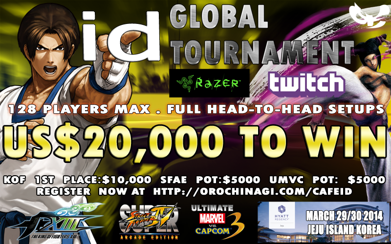 $20,000+ to win! #IGT2014 #SF4AE #KOFXIII #UMVC3