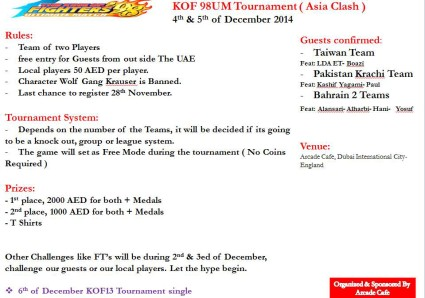 1st Asia Clash (Kof98UM tournament)