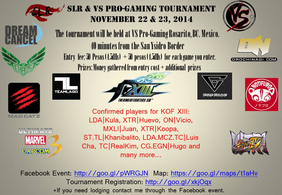 SLR and Versus-Pro Gaming Tournament!