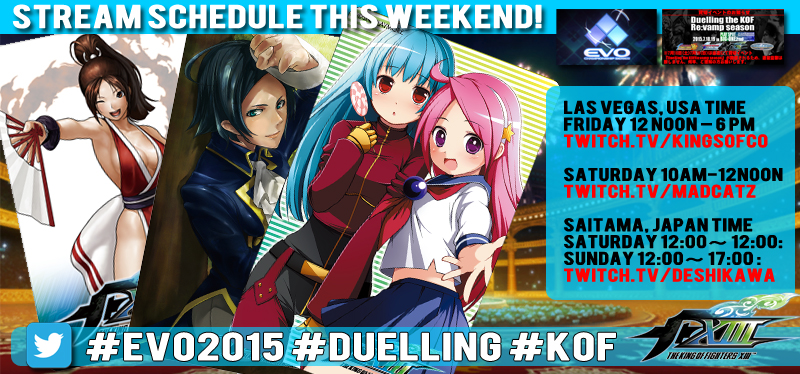 #EVO2015 #KOF #DUELLING STREAMING NOW #SALE