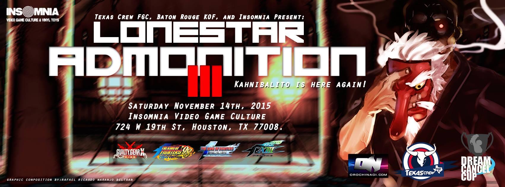 Lonestar Admonition III, #KOF GCC, TTT & AC, Orochinagi Replays