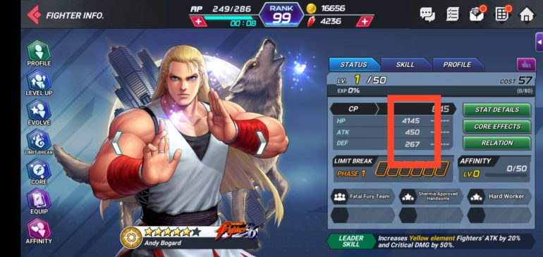 Gold Silver and Bronze characters in [ KOF ALL STAR ]