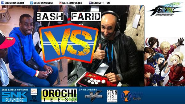 Top Players Bash vs Farid Slug it out #KOFXIII #ONShow