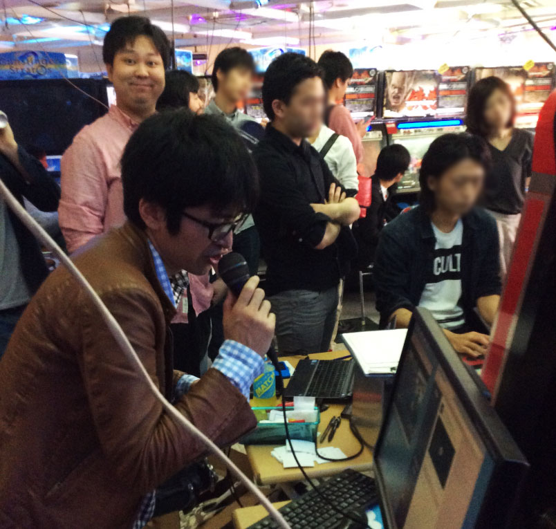 Haregoro commentates a tournament at TLL while Kabao smiles!